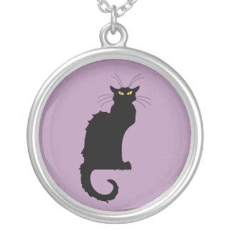 Le Chat Noir Round Pendant Necklace