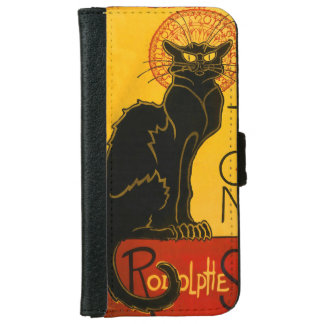 Le Chat Noir The Black Cat Art Nouveau Vintage iPhone 6 Wallet Case