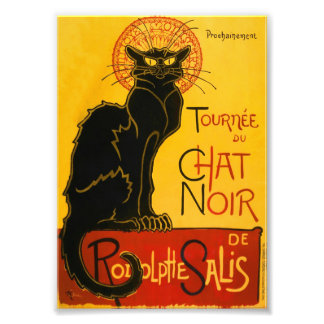 Le Chat Noir The Black Cat Art Nouveau Vintage Photo Print
