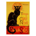 Le Chat Noir The Black Cat Art Nouveau Vintage Poster