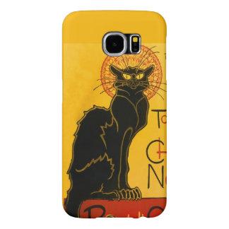 Le Chat Noir The Black Cat Art Nouveau Vintage Samsung Galaxy S6 Cases