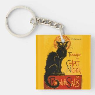 Le Chat Noir The Black Cat Art Nouveau Vintage Single-Sided Square Acrylic Key Ring