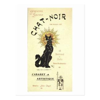 Le Chat Noir The Black Cat Postcard