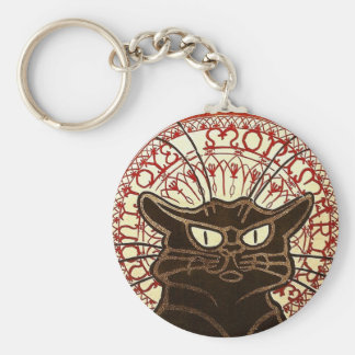 Le Chat Noir, Vente Hôtel Drouot Basic Round Button Key Ring