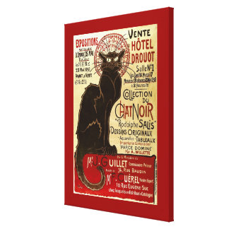 Le Chat Noir, Vente Hôtel Drouot Canvas Print