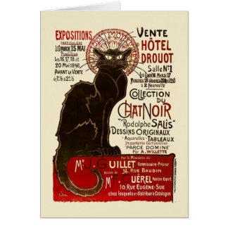Le Chat Noir, Vente Hôtel Drouot Card