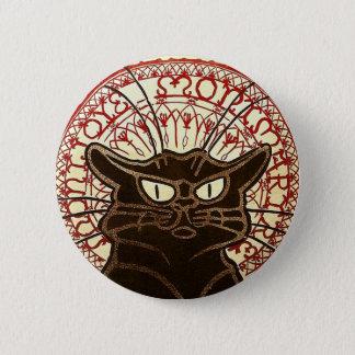 Le Chat Noir, Vente Hôtel Drouot Fine Art 6 Cm Round Badge