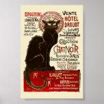 Le Chat Noir, Vente Hôtel Drouot Fine Art Poster
