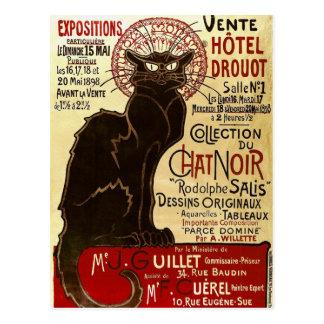 Le Chat Noir, Vente Hôtel Drouot Fine Vintage Postcard