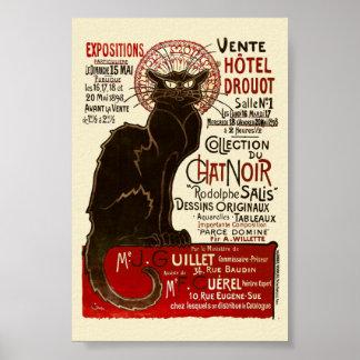 Le Chat Noir, Vente Hôtel Drouot Poster