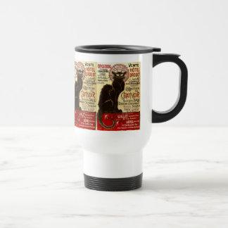 Le Chat Noir, Vente Hôtel Drouot Travel Mug