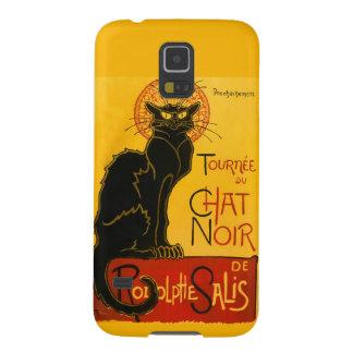 Le Chat Noir Vintage Black Cat Art Nouveau Retro Galaxy S5 Cases