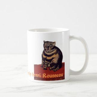 Le Chat Tigre or Tabby by Henri Rousseau Basic White Mug