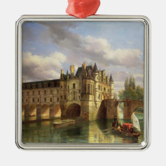Le Chateau de Chenonceau, 1843 (oil on canvas) Christmas Ornament