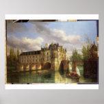 Le Chateau de Chenonceau, 1843 (oil on canvas) Print