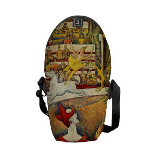 Le Cirque ( The Circus ) by Georges Seurat Courier Bags