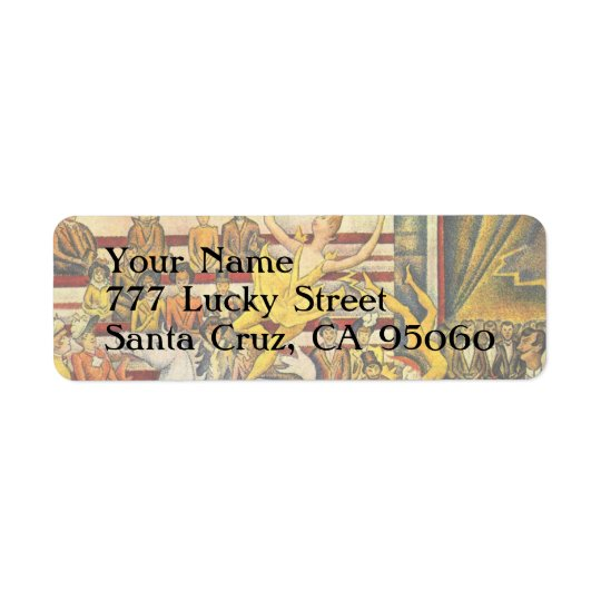 Le Cirque ( The Circus ) by Georges Seurat Return Address Label