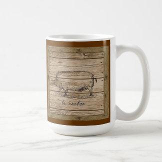 le cochon basic white mug