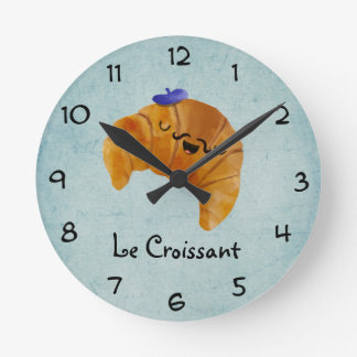 Le Croissant Round Clock