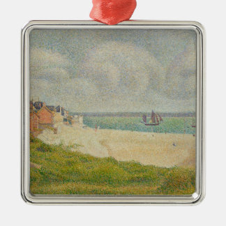 Le Crotoy looking Upstream, 1889 Christmas Ornament