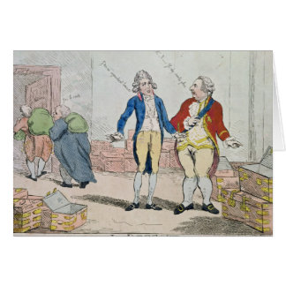Le Deficit, 1788 Card