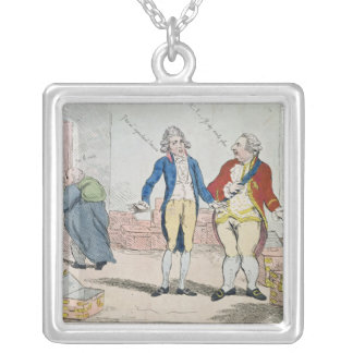 Le Deficit, 1788 Silver Plated Necklace