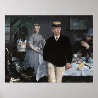 Le Déjeuner dans l atelier by Edouard Manet Posters