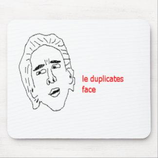 le duplicates face - Internet Meme Mousepad