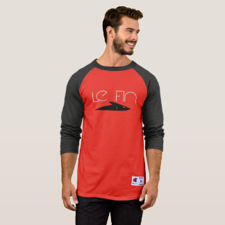 Le Fin baseball shirt red and black