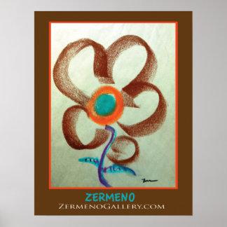 """""""Le Fleur"""" By Zermeno Poster"""