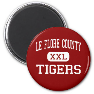 Le Flore County - Tigers - High - Itta Bena 6 Cm Round Magnet