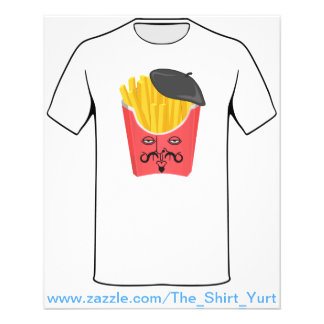 Le French Fries from France 11.5 Cm X 14 Cm Flyer