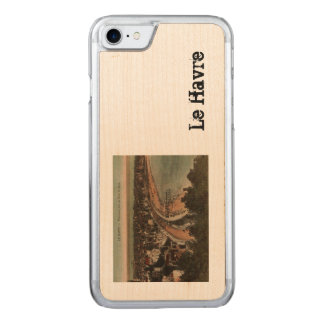 Le Havre Panorama France Postcard 1920s Carved iPhone 8/7 Case