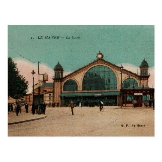 Le Havre railway Station Photochrom France 1910 Postcard