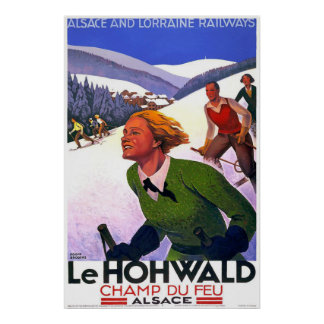Le Hohwald Vintage French Travel Poster