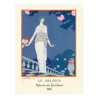 Le Jaloux Art Deco by Lepape Postcard