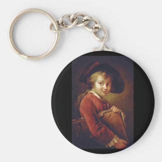 Le Jeune Eleve', Francois_Portraits Basic Round Button Key Ring