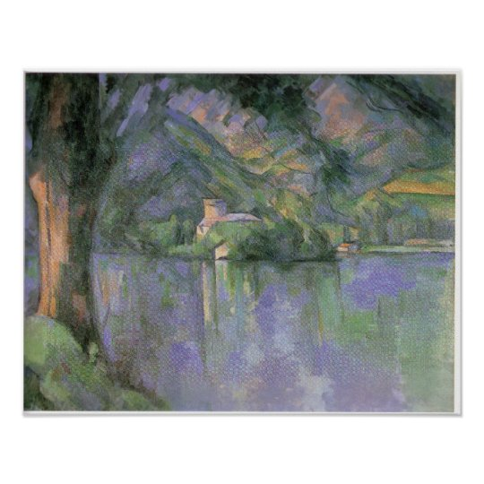 Le lac d Annecy 1896 by Paul Cezanne