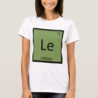 Le - Lettuce Vegetable Chemistry Periodic Table T-Shirt