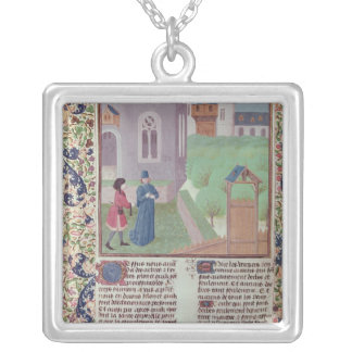 'Le Livre des Prouffitz Champestres' by Silver Plated Necklace