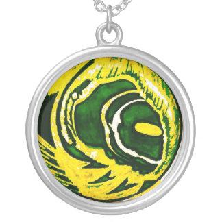 "Le Liza Designs ""Green Bay"" Silver Plated Necklace"