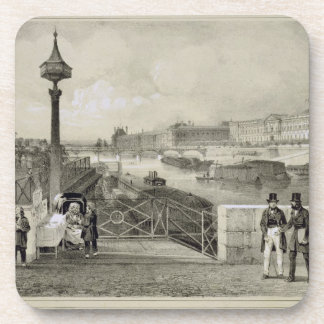 Le Louvre, engraved by Auguste Bry (engraving) Drink Coasters