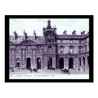Le Louvre, Le Pavillon Rohan, Paris, France Vintag Postcard