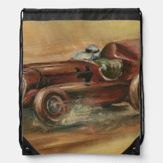 Le Mans Racecar by Ethan Harper Drawstring Bag
