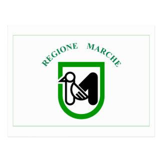 Le Marche flag Postcard