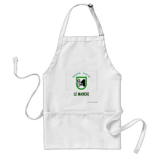 Le Marche flag with name Standard Apron