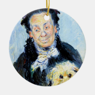 Le Mere Paul  Claude Monet Double-Sided Ceramic Round Christmas Ornament