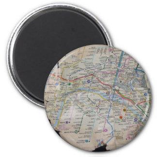 le metro 6 cm round magnet