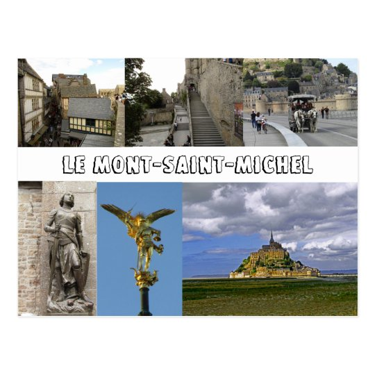 Le Mont Saint Michael Postcard