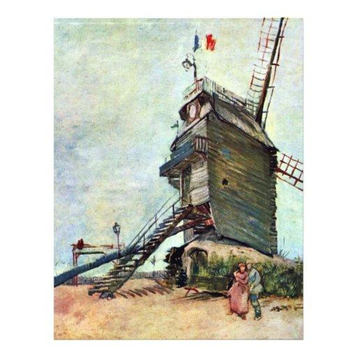 Le Moulin De La Galette By Vincent Van Gogh Personalized Flyer